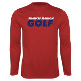 Performance Red Longsleeve Shirt-Golf Stacked