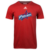 Adidas Climalite Red Ultimate Performance Tee-Patriots Star