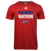 Adidas Climalite Red Ultimate Performance Tee-Patriot Nation