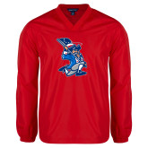 V Neck Red Raglan Windshirt-The Patriot