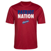 Performance Red Heather Contender Tee-Patriot Nation