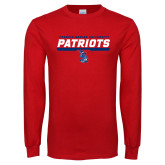 Red Long Sleeve T Shirt-Patriots Inline