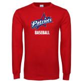 Red Long Sleeve T Shirt-Baseball
