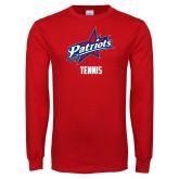 Red Long Sleeve T Shirt-Tennis