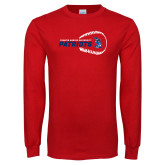 Red Long Sleeve T Shirt-Baseball on Right