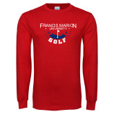 Red Long Sleeve T Shirt-Golf With Stars
