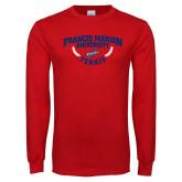 Red Long Sleeve T Shirt-Tennis Branch