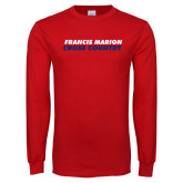 Red Long Sleeve T Shirt-Cross Country Stacked
