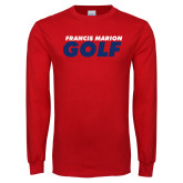 Red Long Sleeve T Shirt-Golf Stacked