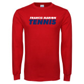 Red Long Sleeve T Shirt-Tennis Stacked
