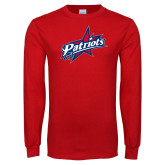 Red Long Sleeve T Shirt-Patriots Star