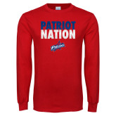 Red Long Sleeve T Shirt-Patriot Nation