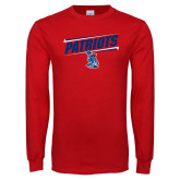 Red Long Sleeve T Shirt-Patriots Slant
