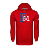 Under Armour Red Performance Sweats Team Hoodie-Interlocking FM