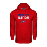 Under Armour Red Performance Sweats Team Hoodie-Patriot Nation