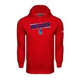 Under Armour Red Performance Sweats Team Hoodie-Patriots Slant
