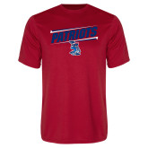 Performance Red Tee-Patriots Slant