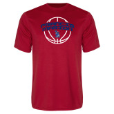 Performance Red Tee-Basketball Arched