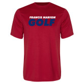 Performance Red Tee-Golf Stacked
