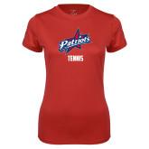 Ladies Syntrel Performance Red Tee-Tennis