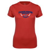 Ladies Syntrel Performance Red Tee-Tennis Branch