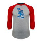 Grey/Red Raglan Baseball T Shirt-The Patriot