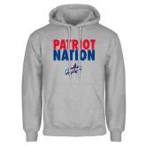 Grey Fleece Hoodie-Patriot Nation