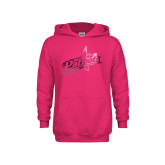 Youth Raspberry Fleece Hoodie-Patriots Star Foil