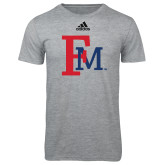 Adidas Sport Grey Logo T Shirt-Interlocking FM