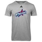 Adidas Climalite Sport Grey Ultimate Performance Tee-Patriots Star