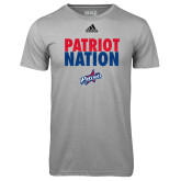 Adidas Climalite Sport Grey Ultimate Performance Tee-Patriot Nation