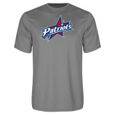 Performance Grey Concrete Tee-Patriots Star