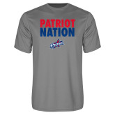 Performance Grey Concrete Tee-Patriot Nation