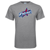 Grey T Shirt-Patriots Star