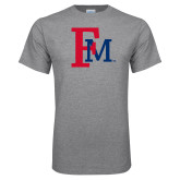 Grey T Shirt-Interlocking FM