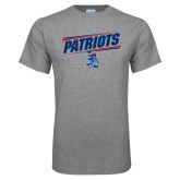 Grey T Shirt-Patriots Slant