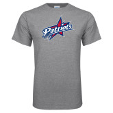 Grey T Shirt-Patriots Star Distressed