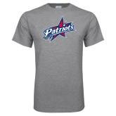 Grey T Shirt-Patriots Star Distressed