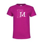 Youth Cyber Pink T Shirt-Interlocking FM