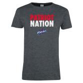 Ladies Dark Heather T Shirt-Patriot Nation