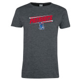 Ladies Dark Heather T Shirt-Patriots Slant