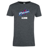 Ladies Dark Heather T Shirt-Alumni