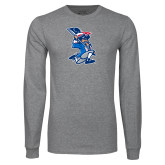 Grey Long Sleeve T Shirt-The Patriot