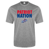 Performance Grey Heather Contender Tee-Patriot Nation