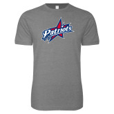 Next Level SoftStyle Heather Grey T Shirt-Patriots Star