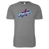 Next Level SoftStyle Heather Grey T Shirt-Patriots Star