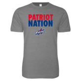 Next Level SoftStyle Heather Grey T Shirt-Patriot Nation