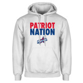 White Fleece Hoodie-Patriot Nation
