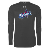 Under Armour Carbon Heather Long Sleeve Tech Tee-Patriots Star