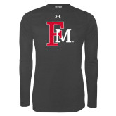 Under Armour Carbon Heather Long Sleeve Tech Tee-Interlocking FM